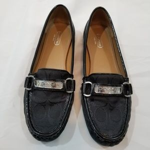 Coach Black Logo Felisha Loafer
